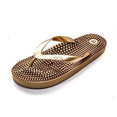 Revs Premium Massage Flip Flops - Massage Footbed for Better Health, Pain Relief, Increase in Circulation & Energy | Flip-Flops