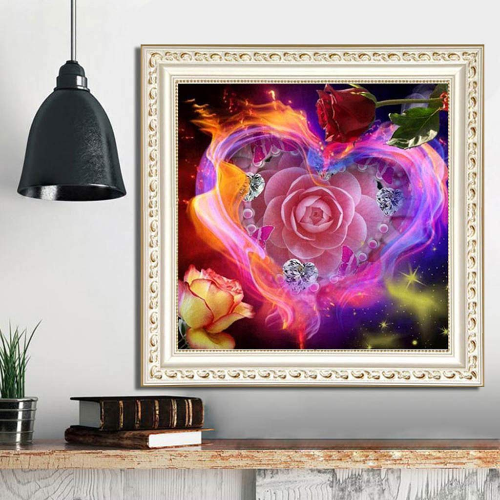 DIY 5D Diamond Painting by Number Kits for Adult Full Drill Painting Cross Stitch Square Drill Kit Crystal Rhinestone Embroidery Pictures Arts Craft for Home Wall Decor C