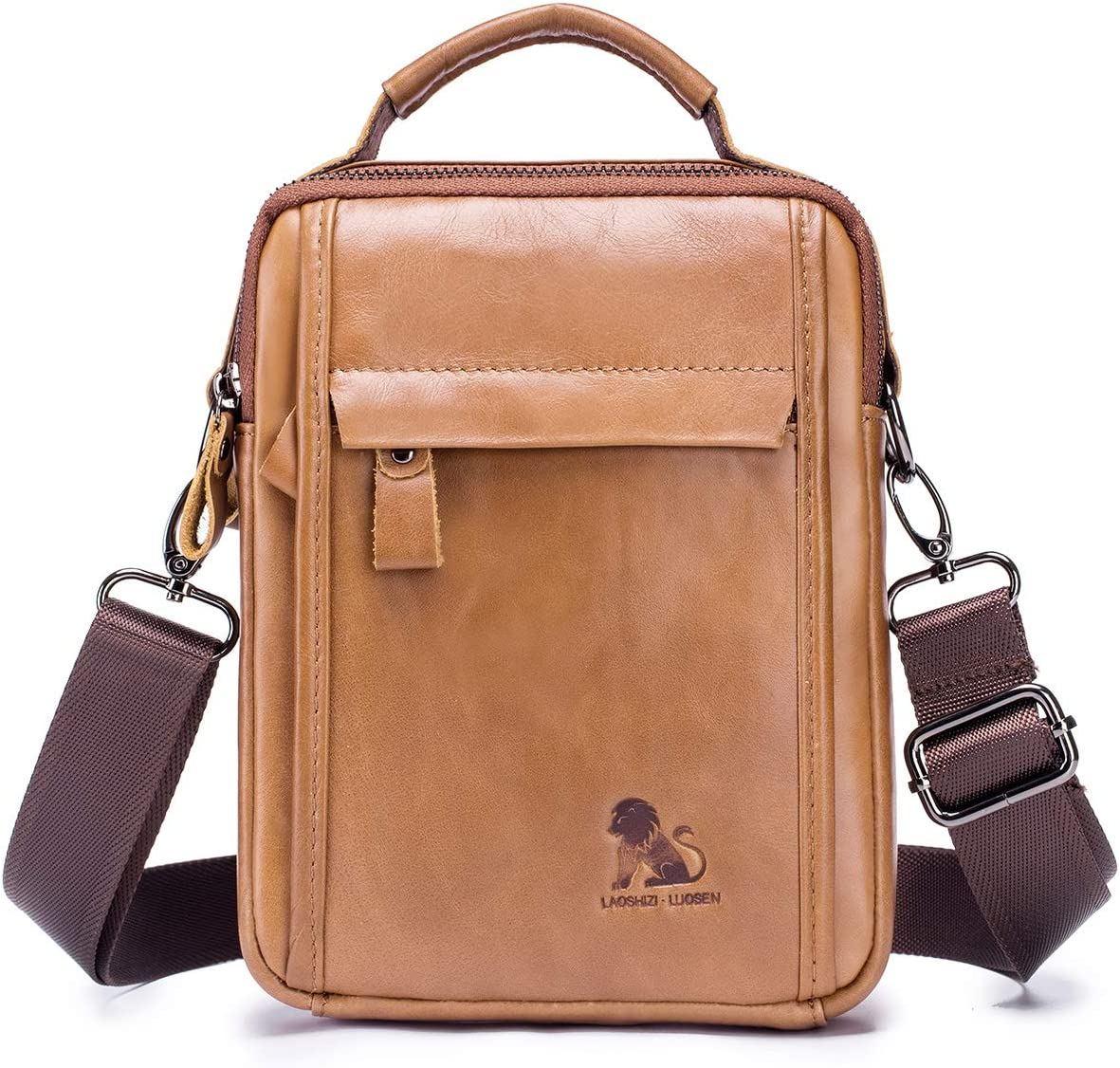 YQSMYSW Casual Mens Bag Canvas Multi-Function Shoulder Messenger Bag Mens Bag Small Bag
