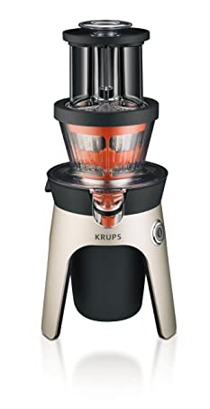 KRUPS ZB500E Infinity Slow Juice Extractor with 2 Stainless Steel Baskets f