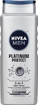 NIVEA Men Platinum Protect 3-in-1 Body Wash