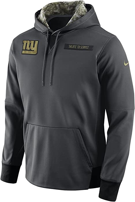 e7d6af6b2 Nike Men s New York Giants Salute to Service Player Fleece Pull Over  Anthracite Black Size