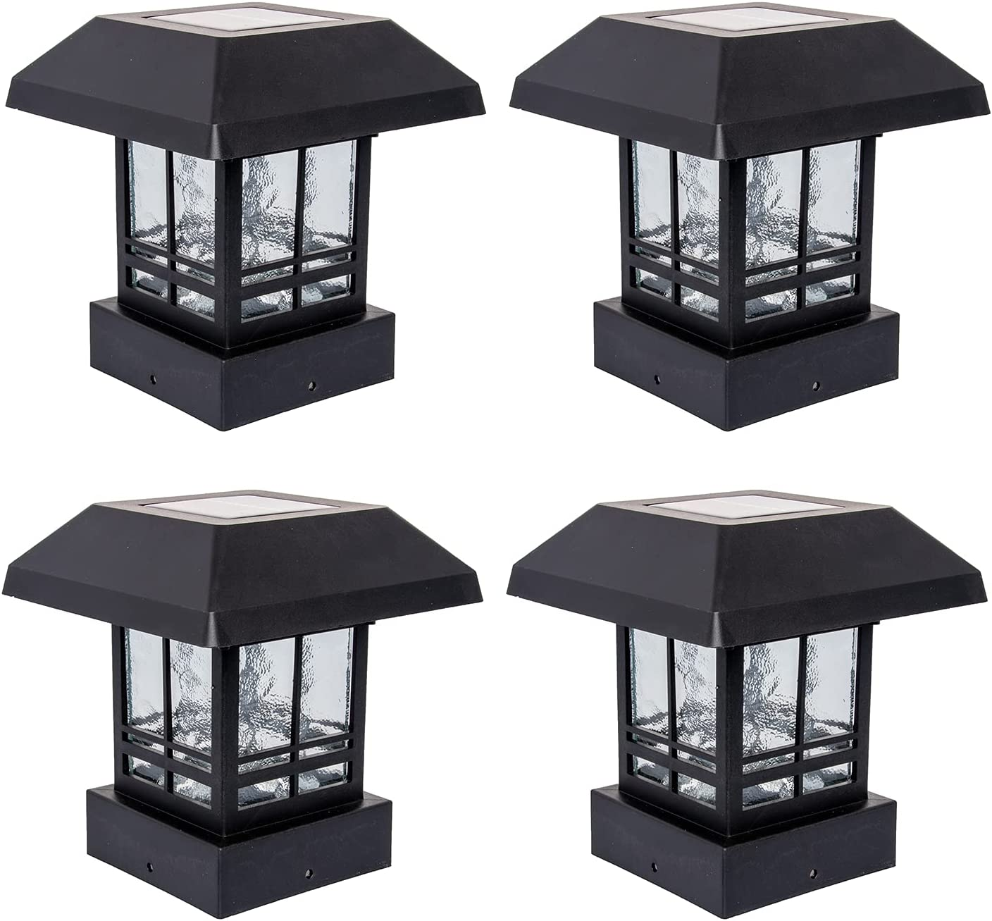 GreenLighting 4 Pack Trophy 15 Max 71% OFF Lumen LED Post OFFicial site Cap Solar Powered