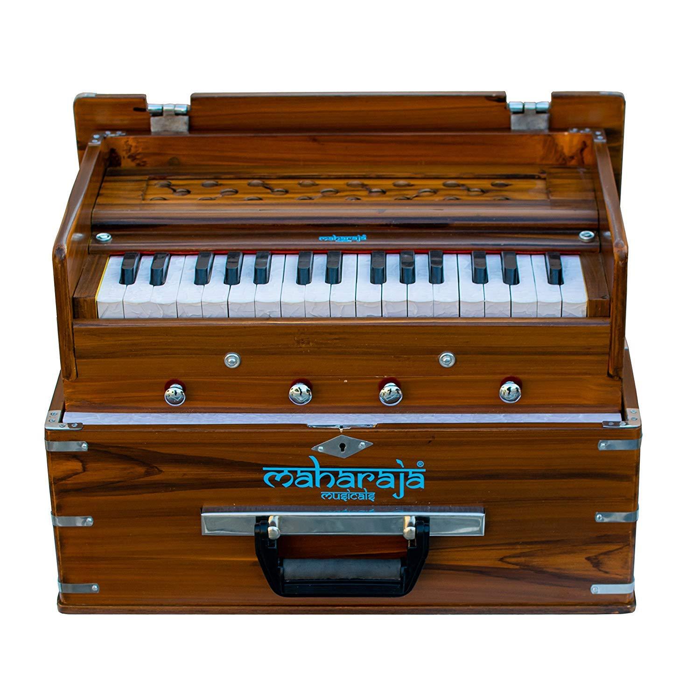 Maharaja Musicals, Kirtan Harmonium, Portable In-Flight Edition, Natural Color, Latest Model KH2 by Maharaja Musicals