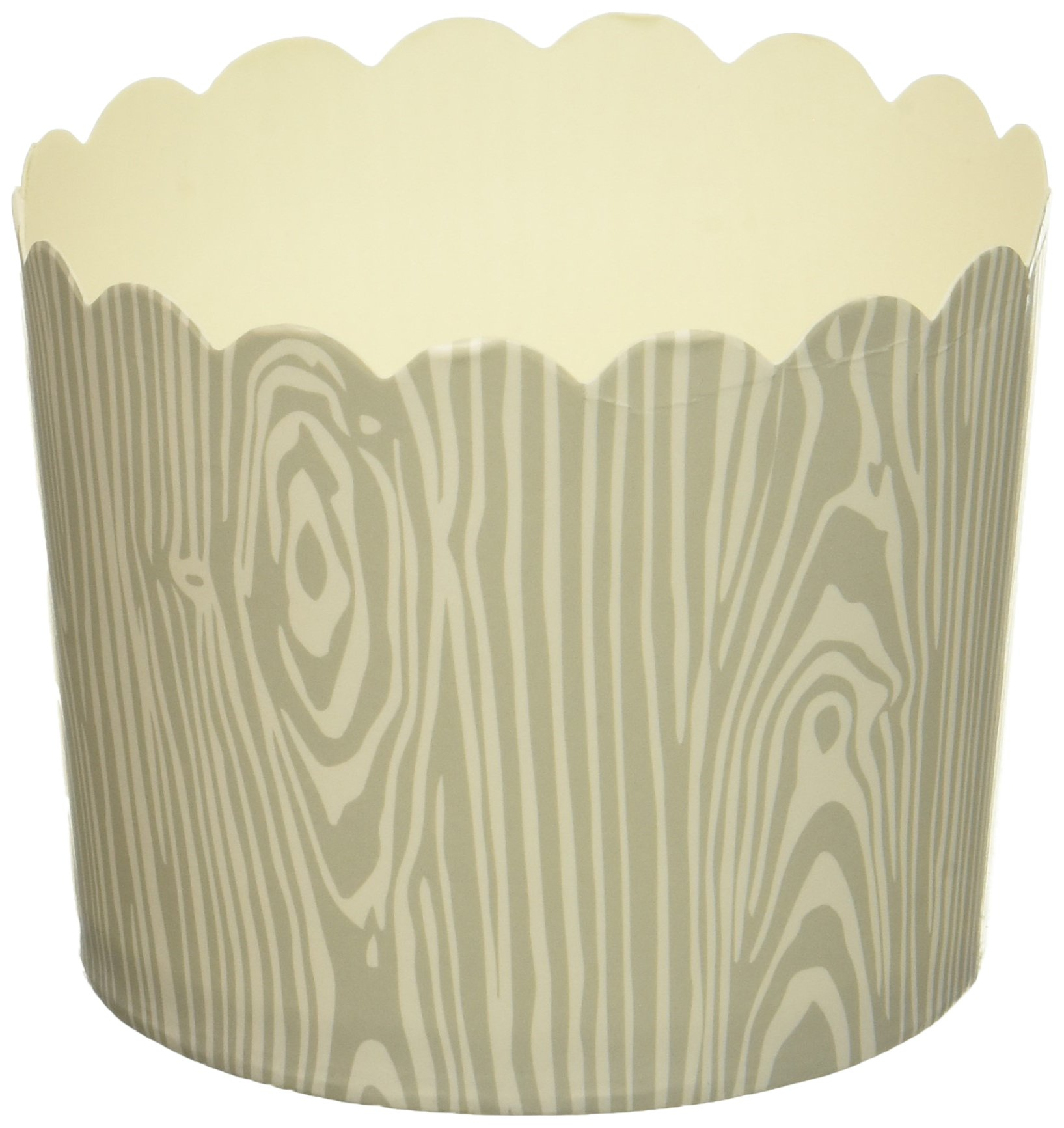 Simply Baked CLG-127 Lg Grey Birch Wood Grain/ 20pk-New Disposable Paper Cup