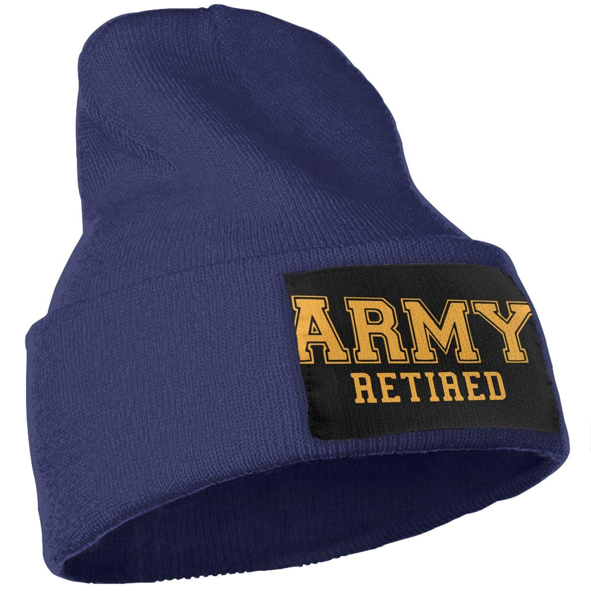 Army Retired Thick Skull Cap WHOO93@Y Unisex 100/% Acrylic Knit Hat Cap