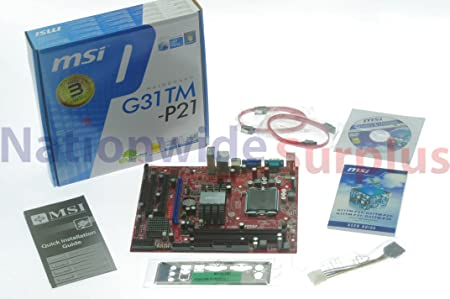 Amazon Com Msi G31tm P21 Motherboard Ms 7529 Intel G31 Ddr2 Lga775 Computers Accessories