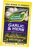 Good Seasons Salad Dressing & Recipe Mix, Garlic & Herb, 0.75-Ounce Packets (Pack of 24)