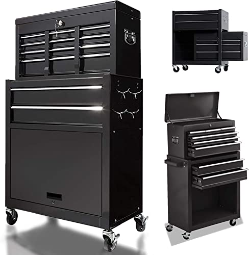 8 Drawers Large Space Capacity Rolling Tool Chest