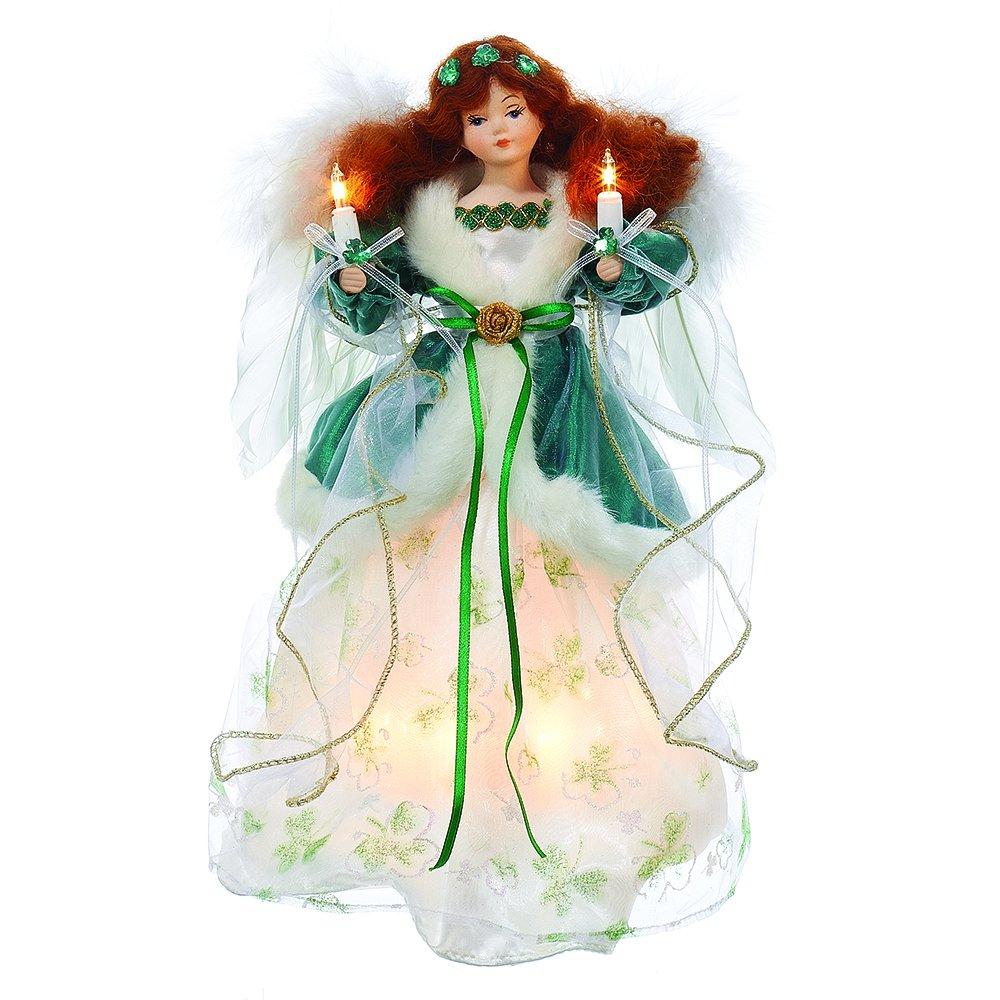Kurt Adler UL 10-Light 12'' Irish Angel Treetop