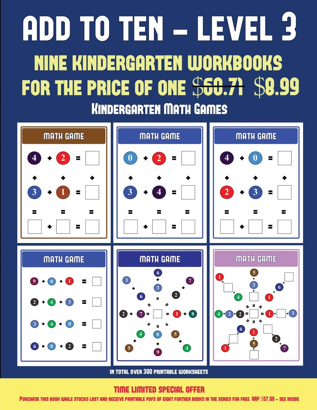 image relating to Printable Kindergarten Math Games identified as Kindergarten Math Game titles (Include in direction of 10 - Place 3): 30 finish