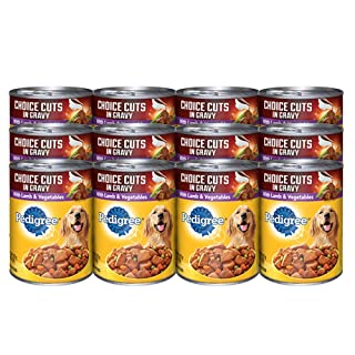PEDIGREE CHOICE CUTS in Gravy Adult Canned Wet Dog Food Lamb & Vegetable Flavor, (12) 13.2 oz. Cans