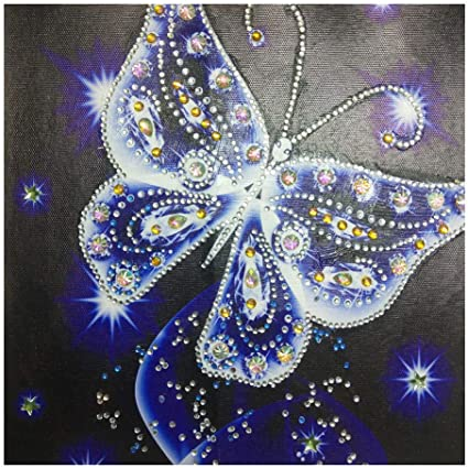 Staron Clearance DIY Full Drill 5D Painting Wall Art Decor Cross Stitch Kit Crystals 5D Diamond Rhinestone Painting Embroidery Home Decor Craft Butterfly 3❤️ Butterfly 5D Diamond Painting