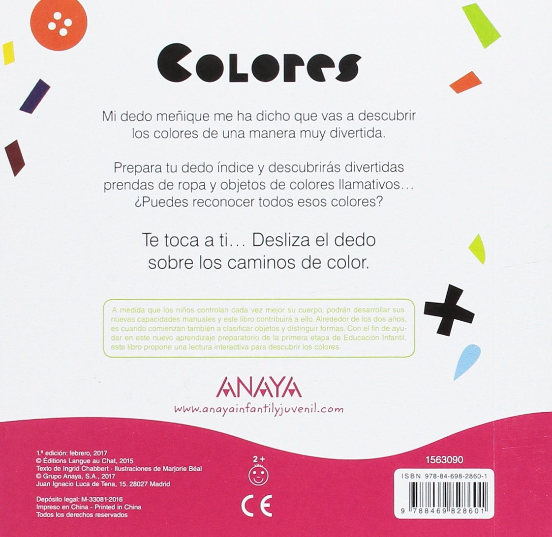 Colores (Spanish Edition): Ingrid Chabbert, Anaya, Marjorie Béal: 9788469828601: Amazon.com: Books