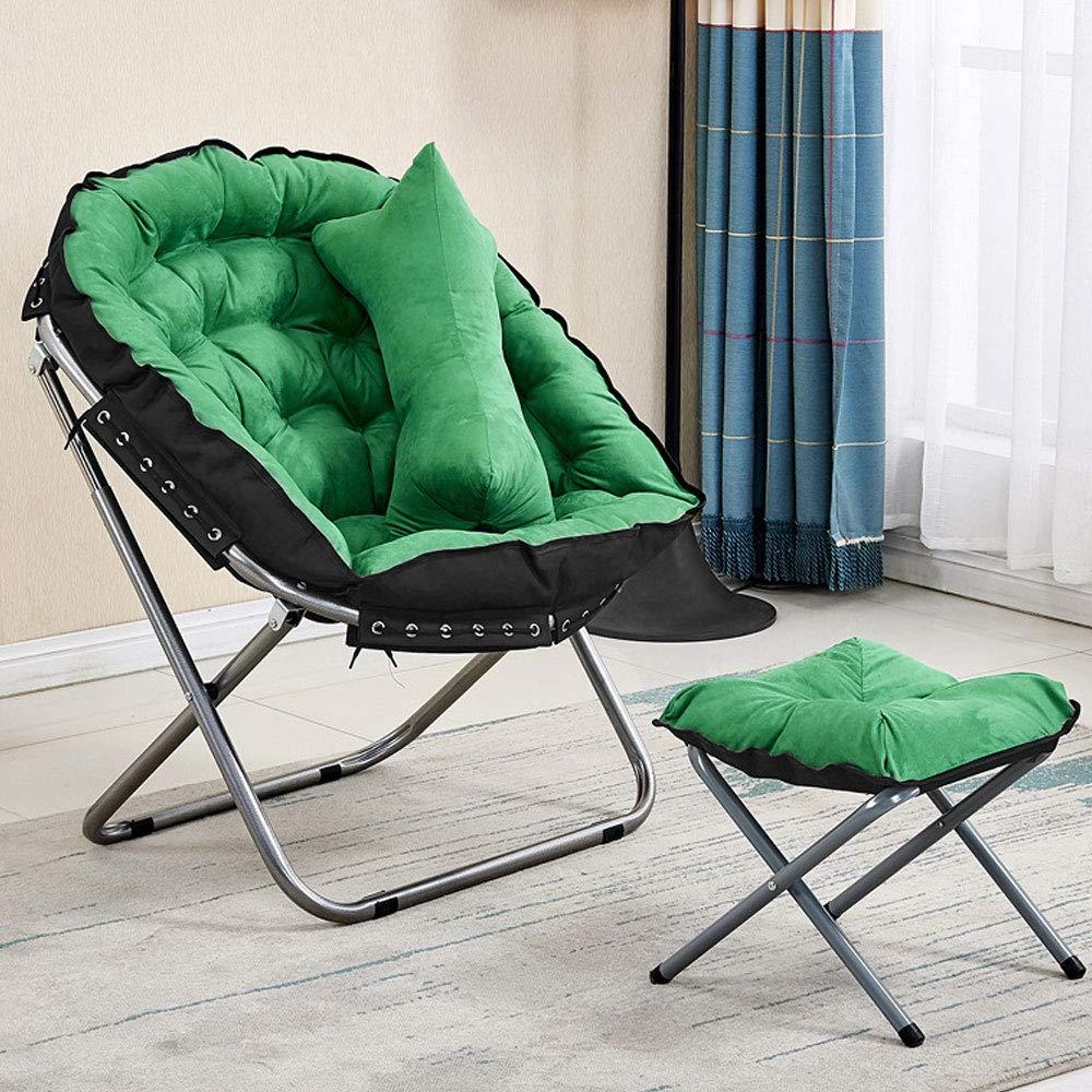vert S Chaise Pliante Démontable Extérieure Tatami De Sofa De Chaise De Lune De Chaise De Lune Grand Adulte (Couleur   marron, Taille   L)