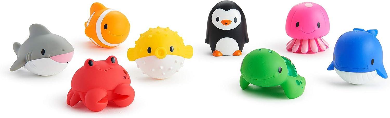 Munchkin - Ocean, 8 juguetes para la hora del baño