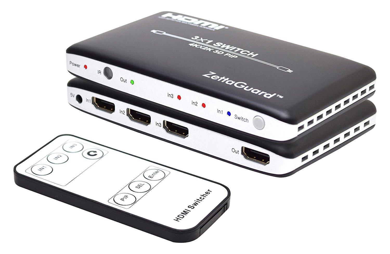 Amazon.com: Zettaguard 4K x 2K 3 Port 3 x 1 HDMI Switch with PIP and ...