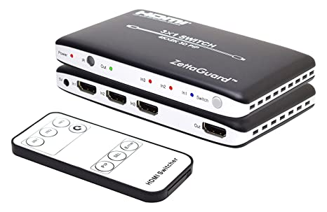 Zettaguard 4K x 2K 3 Port 3 x 1 HDMI Switch with PIP and IR Wireless Remote  Control, HDMI Splitter Switcher Hub Port Switches (ZW310)