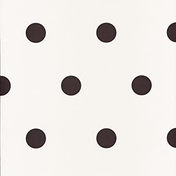 Caselio Shades 67799107 Papier Peint à Pois De 5 Cm Environ Avec Fond En  Blanc Cassé