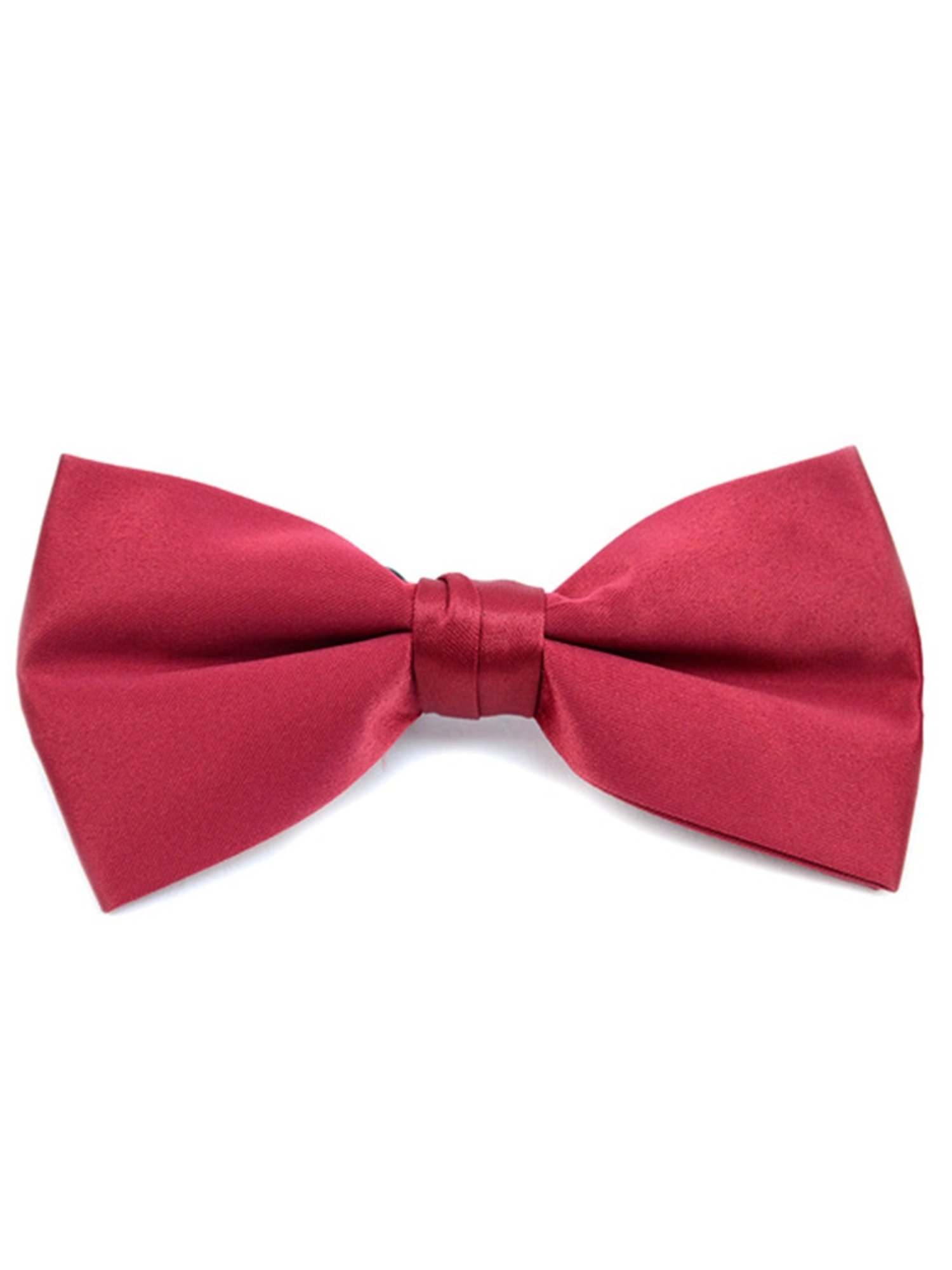 Young Boy's Burgundy Pre-tied Clip On Bow Tie - Formal Tuxedo Solid Color