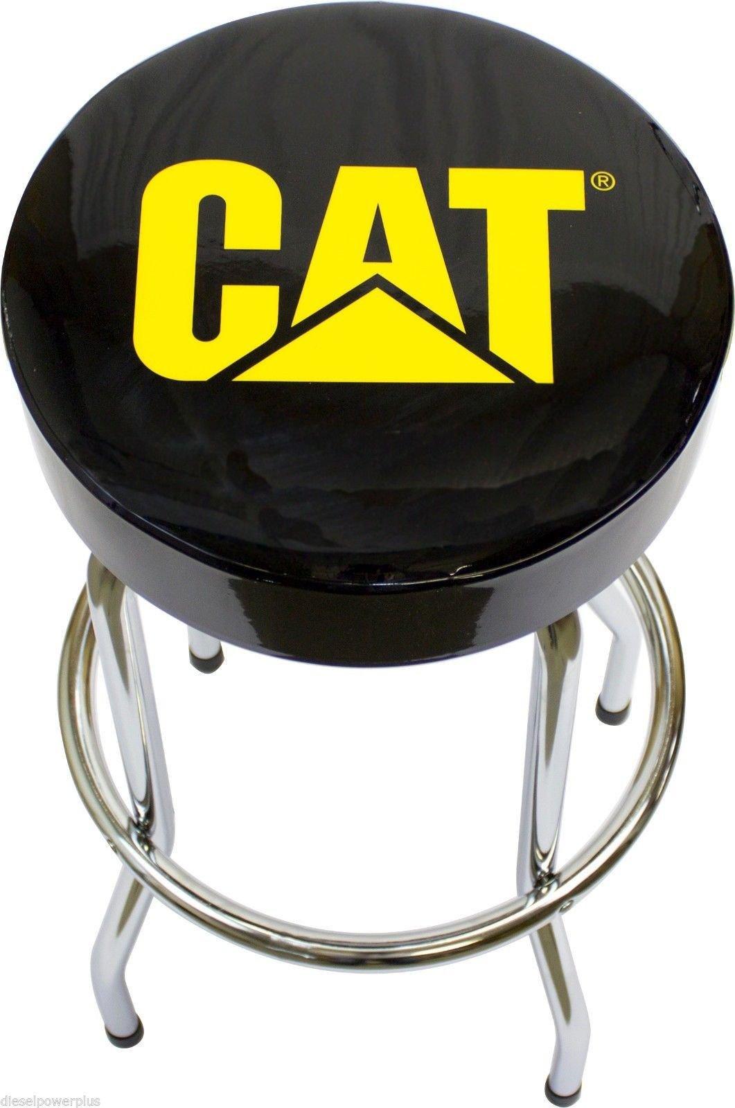 CAT Garage Stool Cat Caterpillar Semi Truck Motor Tractor Bar Stool Chair Shop Bench Garage Tract
