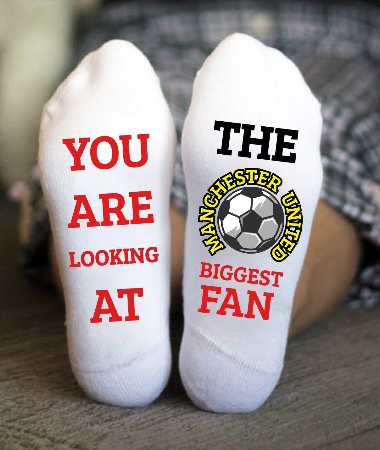 Manchester United Soccer Socks Football Funny Birthday Gift Game