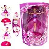 NEW FLYING FLUTTERING FAIRY GIRLS TOY KIDS DOLL PINK WINGS MAGICAL XMAS GIFT