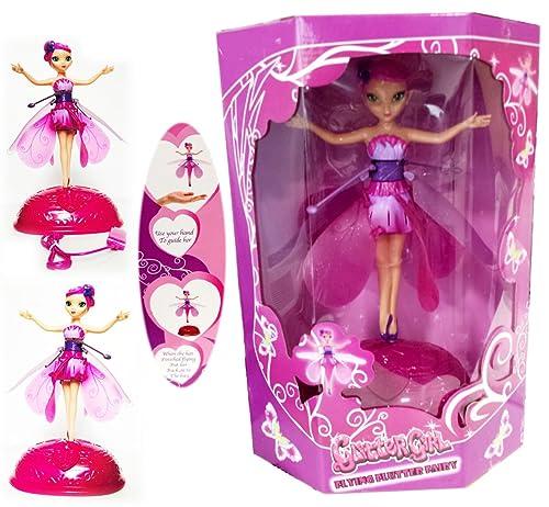New flying fluttering fairy girls toy kids doll pink wings magical new flying fluttering fairy girls toy kids doll pink wings magical xmas gift mightylinksfo