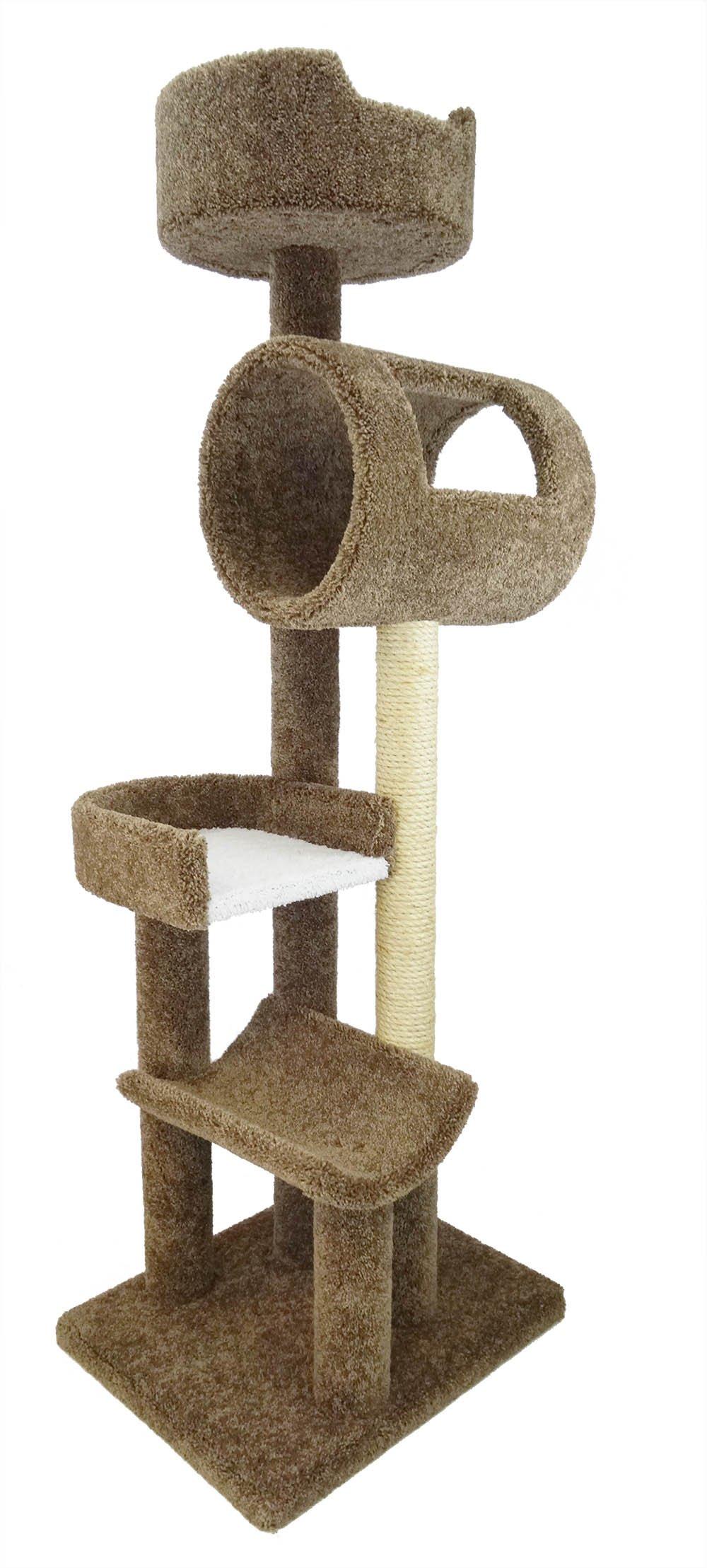 New Cat Condos Deluxe Cat Play Loft, Brown