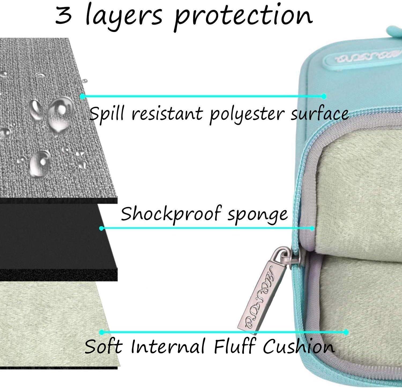 Laptop Sleeve Polyester Verticale Hydrofuge Sac avec Poche Accessoires MOSISO Housse Compatible avec 13-13,3 Pouces MacBook Pro Notebook Marbre Ondul/é Cr/éatif MacBook Air