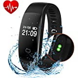 Fitness Tracker, Activity Tracker Smart Band Wireless Watch Bluetooth 4.0 Wristband Waterproof IP67 Bracelet with