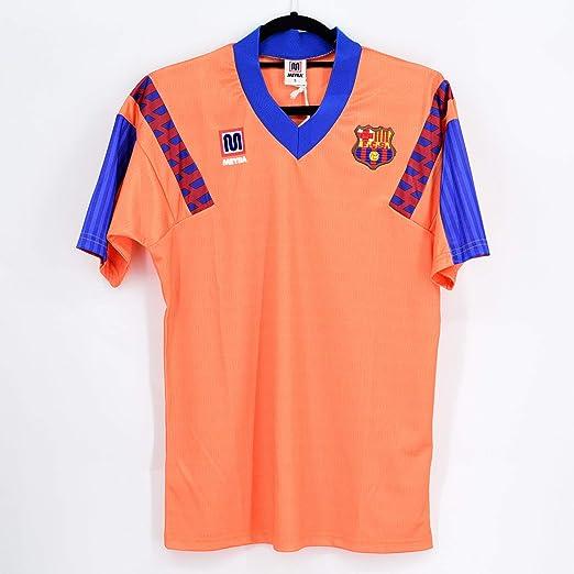 Meyba Camiseta Wembley 92 Naranja FC Barcelona (S): Amazon.es: Deportes y aire libre
