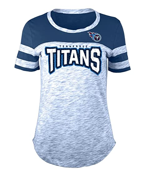 Image Unavailable. Image not available for. Color  New Era Tennessee Titans  Women s NFL Catch Space Dye Short Sleeve Shirt 313bee018