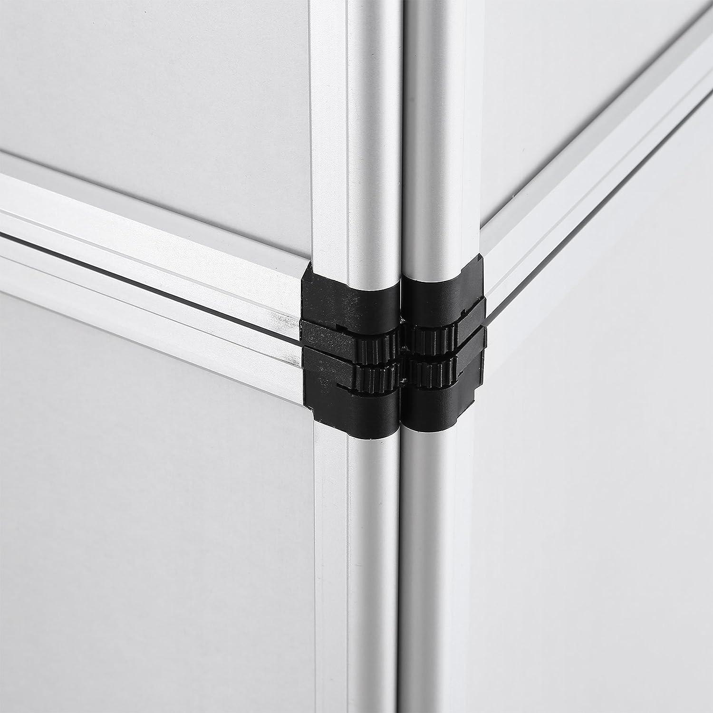OldFe 61x91cm Paravento Divisoria Con 8 Pannelli Schermo Background In Materiale Velcro-Receptive Fabric In Grigio 61*91cm