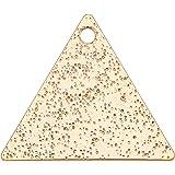 BENECREAT 50pcs 18K Gold Plated Brass Triangle Blank Pendants Brass Stamping Blanks for Bracelet Earring Pendant Charms Dog T
