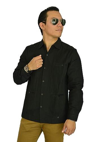 606485ed64 Camisa Guayabera Yucateca Casual Lino Presidencial Original Talla  Personalizable cfkkprsml50