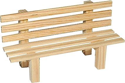 Unbekannt Miniatur Gartenbank Bank Aus Holz Für