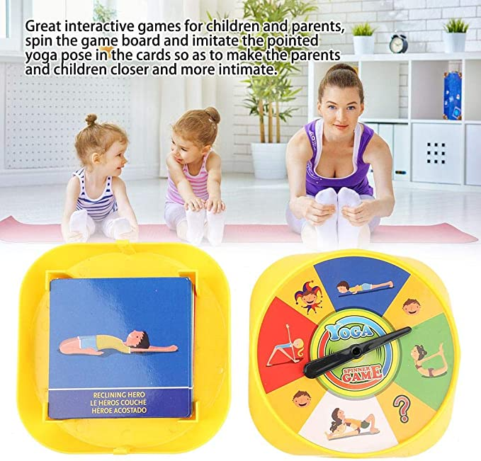 Yoga Pose Game Cards Interactive Flexibility Exercise Desktop Toy Parents Children Early Childhood Education (#1)