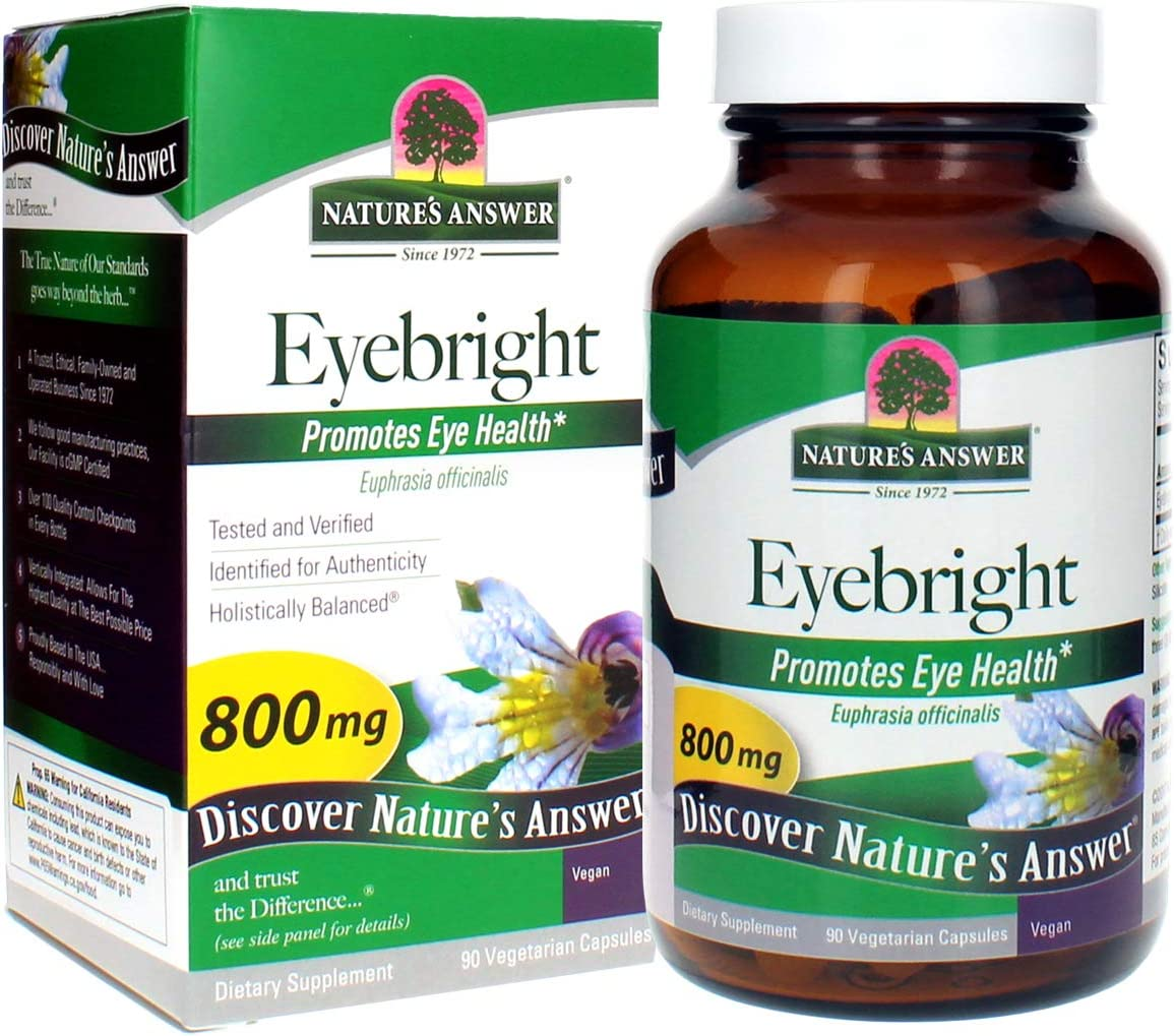 Nature's Answer Eyebright Herb, 90-Count Veggie Caps