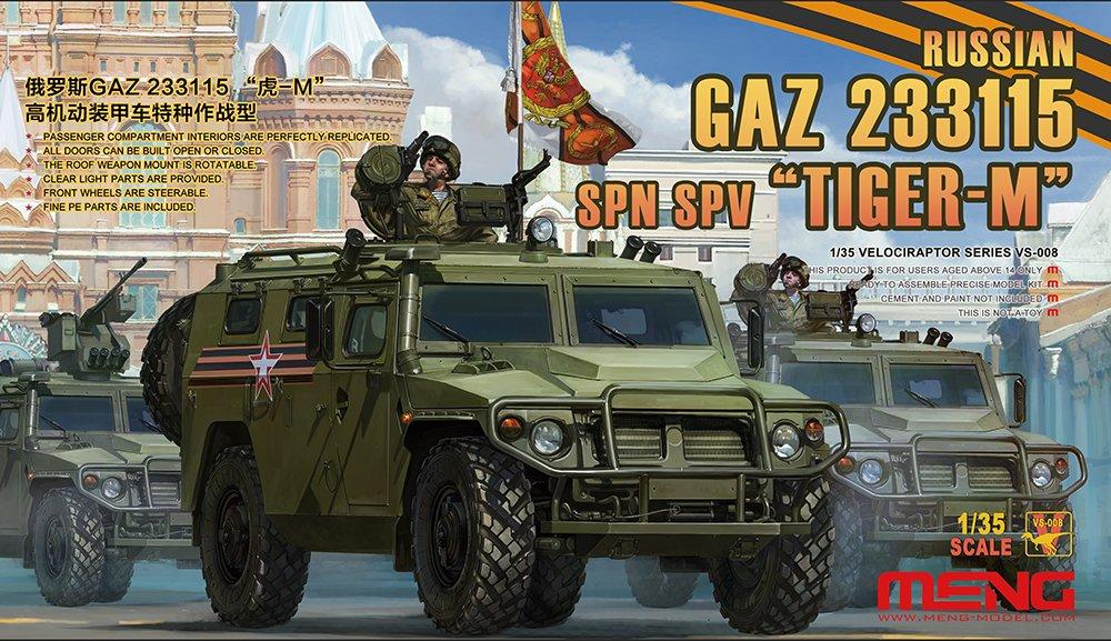 Meng VS-008 Russian GAZ 233115 Tiger-M SPN SPV Toy