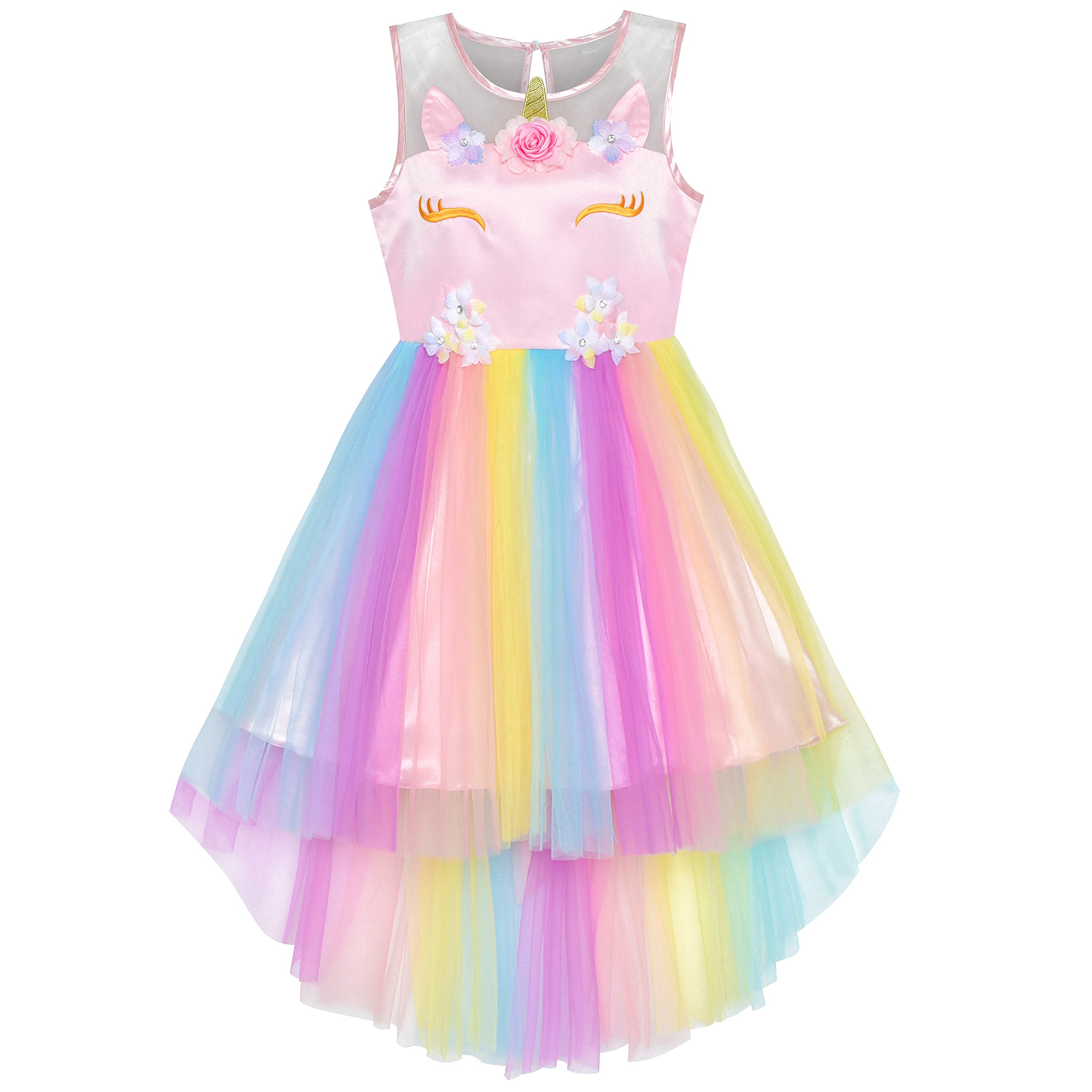 Wedding Party Dress Superior Materials Reliable Flower Girl Dresses Princess Prints A Christmas Holiday Performance Dress Girl Christmas Party Banquet Dress Flower Girl Dresses