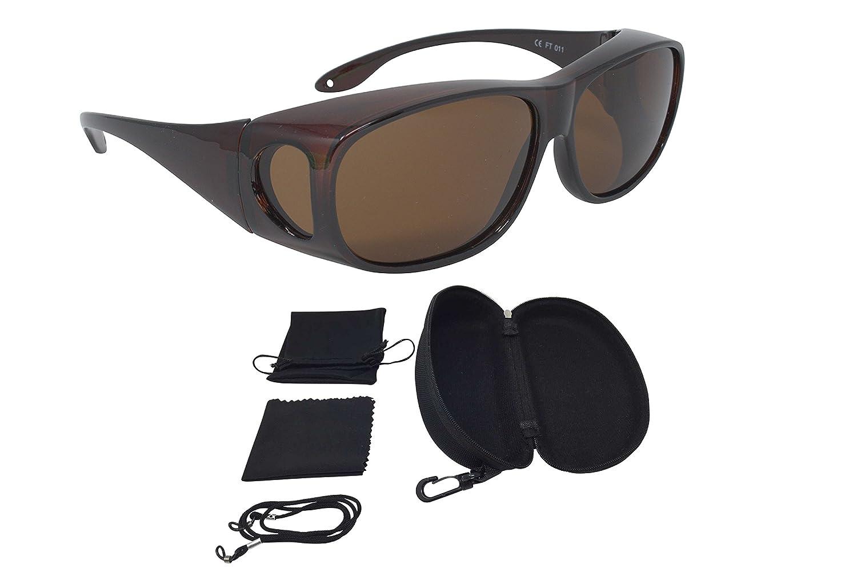 Überzieh Sonnenbrille Überbrille Sonnenüberbrille FASHION EDITION Rot