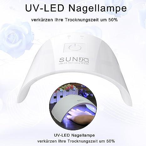 ACEVIVI UV Lampe für Nägel, 24W LED Nagellampe Nageltrockner