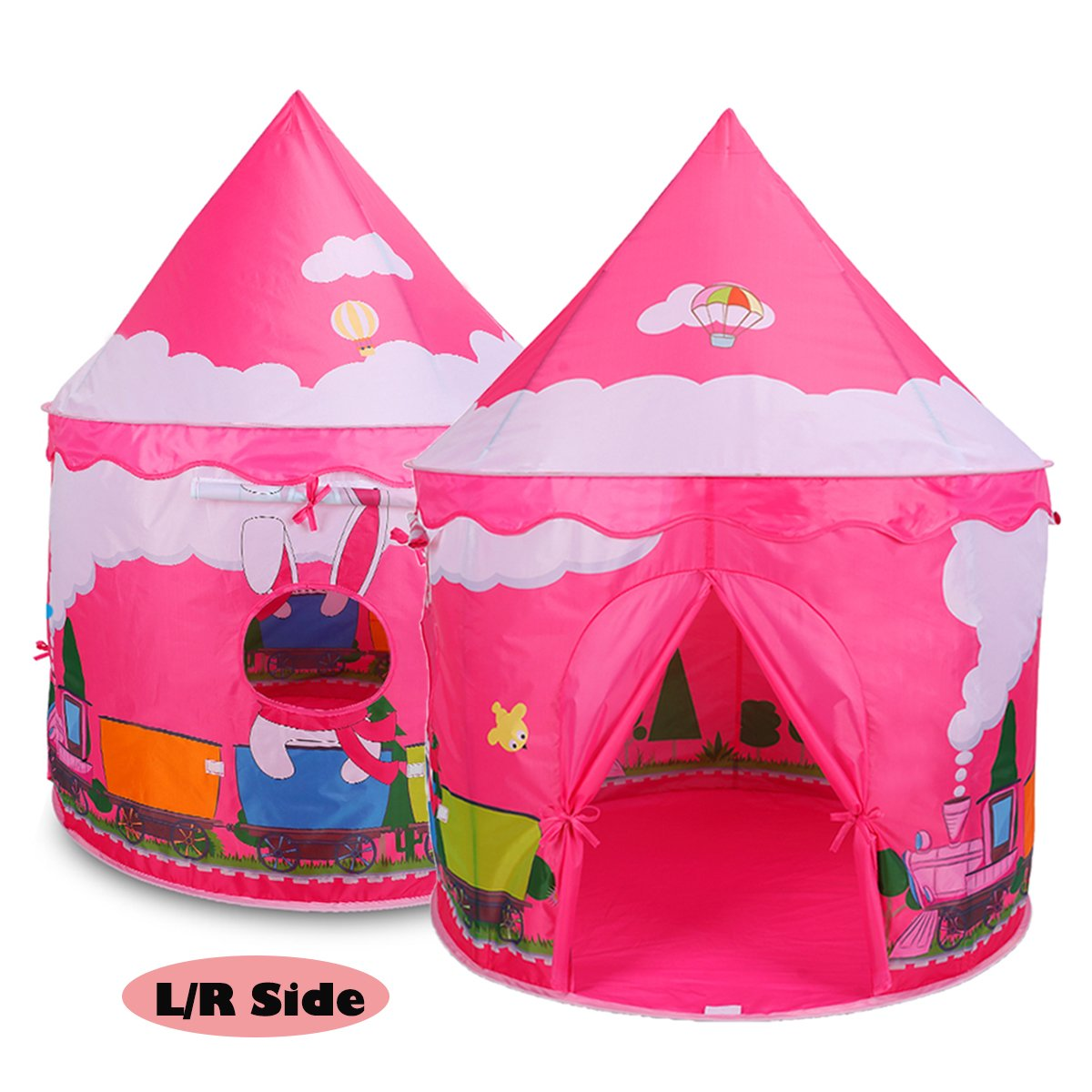 Eggsnow Girls Tent Princess Castle Play Tent Kids Play Tents for Girls Indoor and Outdoor Fun Play-Pink Topbestsource FBA-WZZP-CB-Pink