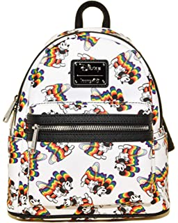 LOUNGEFLY Disney Minnie Mouse Face FULL SIZE Backpack Large Bag Super Cute NWT