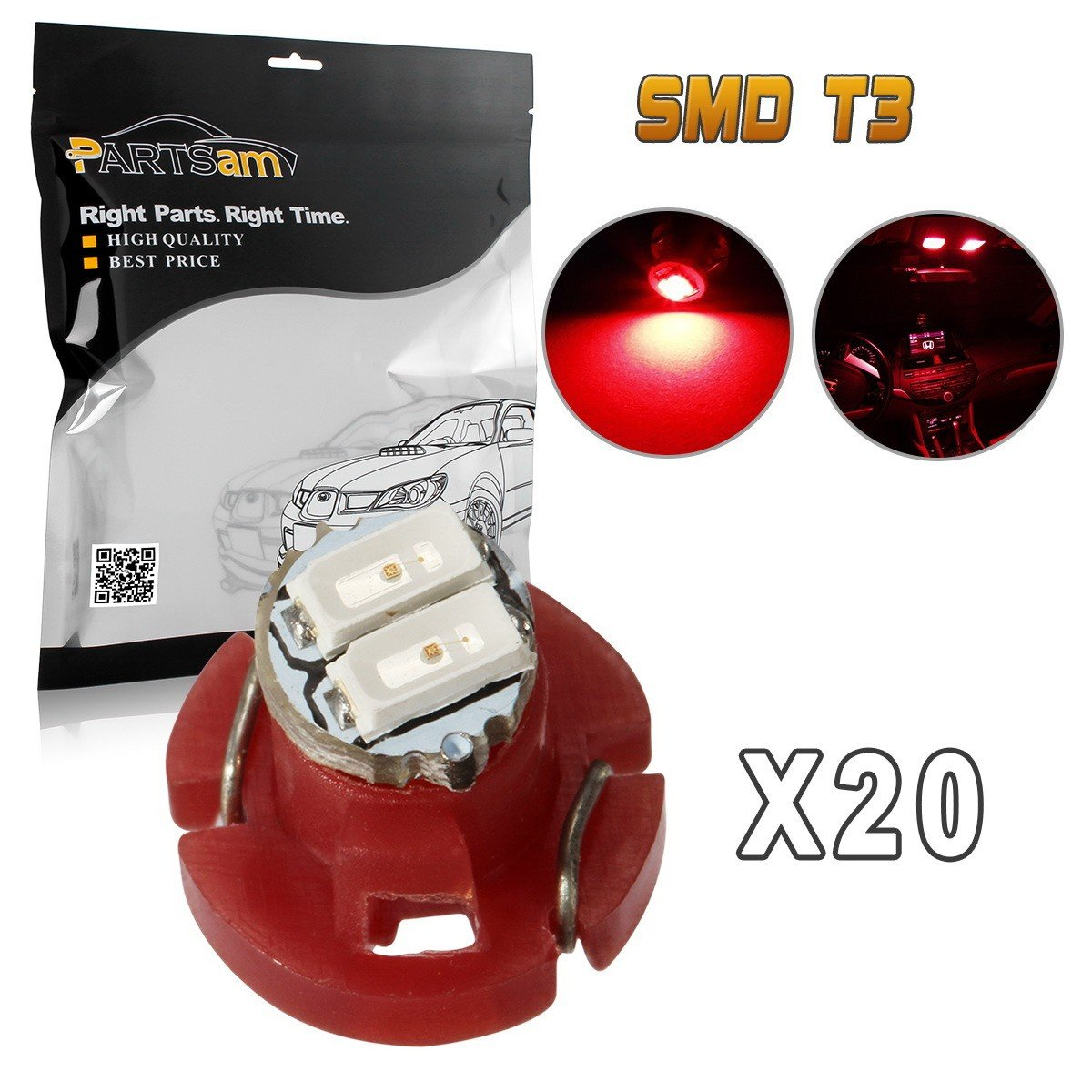 Partsam 20Pcs 4.7mm Grain Of Wheat Mini Halogen Bulbs Instrument Cluster Panel Backlight Gauge Lights 12V 95ma