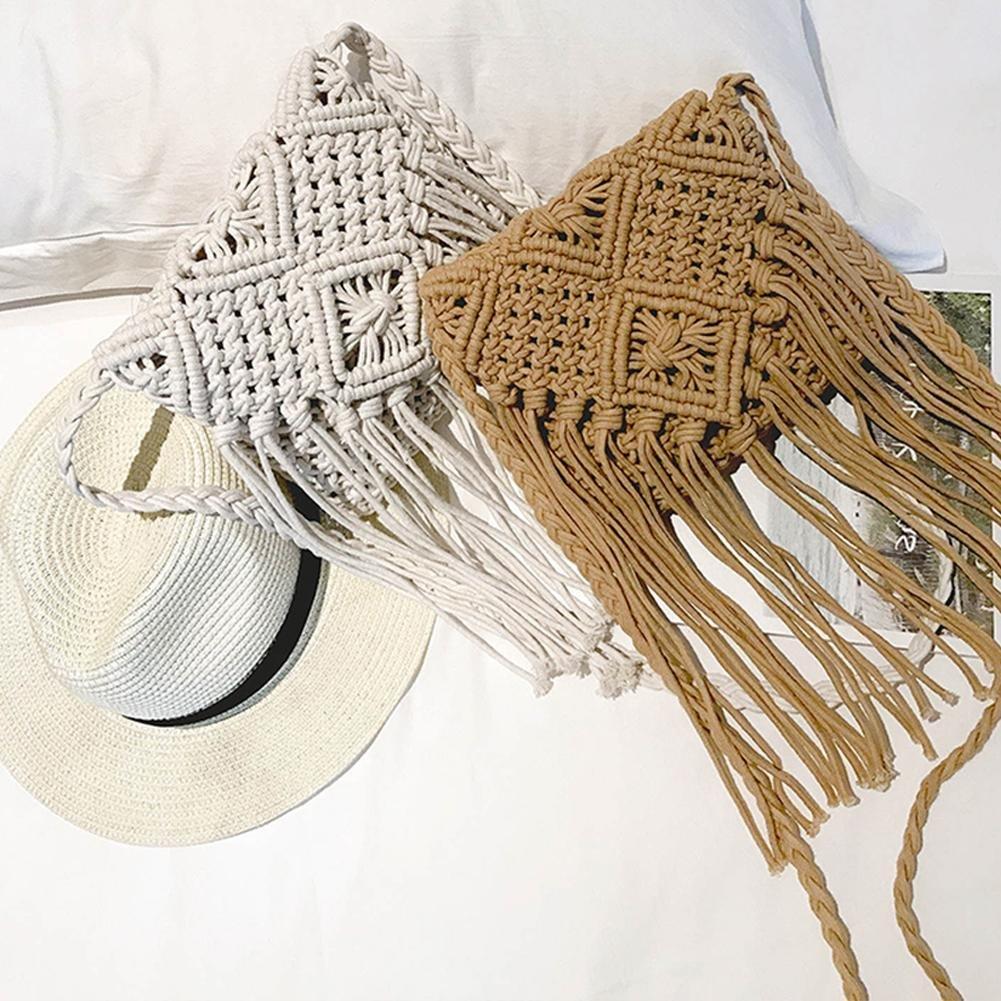 Bolso de playa estilo bohemio, hecho a mano, para mujer ...