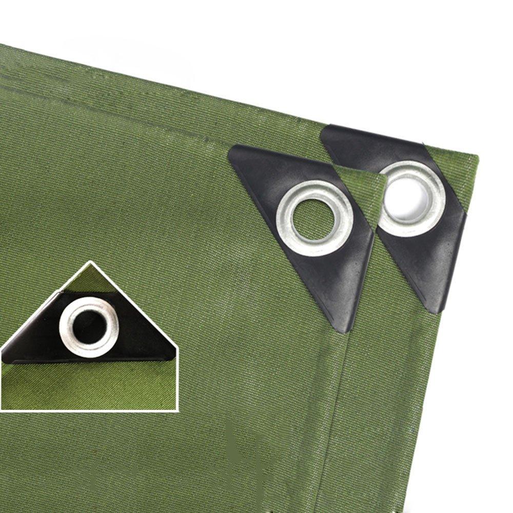 Tarpaulin HUO Tela Cerata, Linoleum Impermeabile Parasole Resistente all'Usura, Copri Foglio per Giardinaggio da Campeggio Animali Domestici (colore   Army verde, Dimensioni   2  2m)