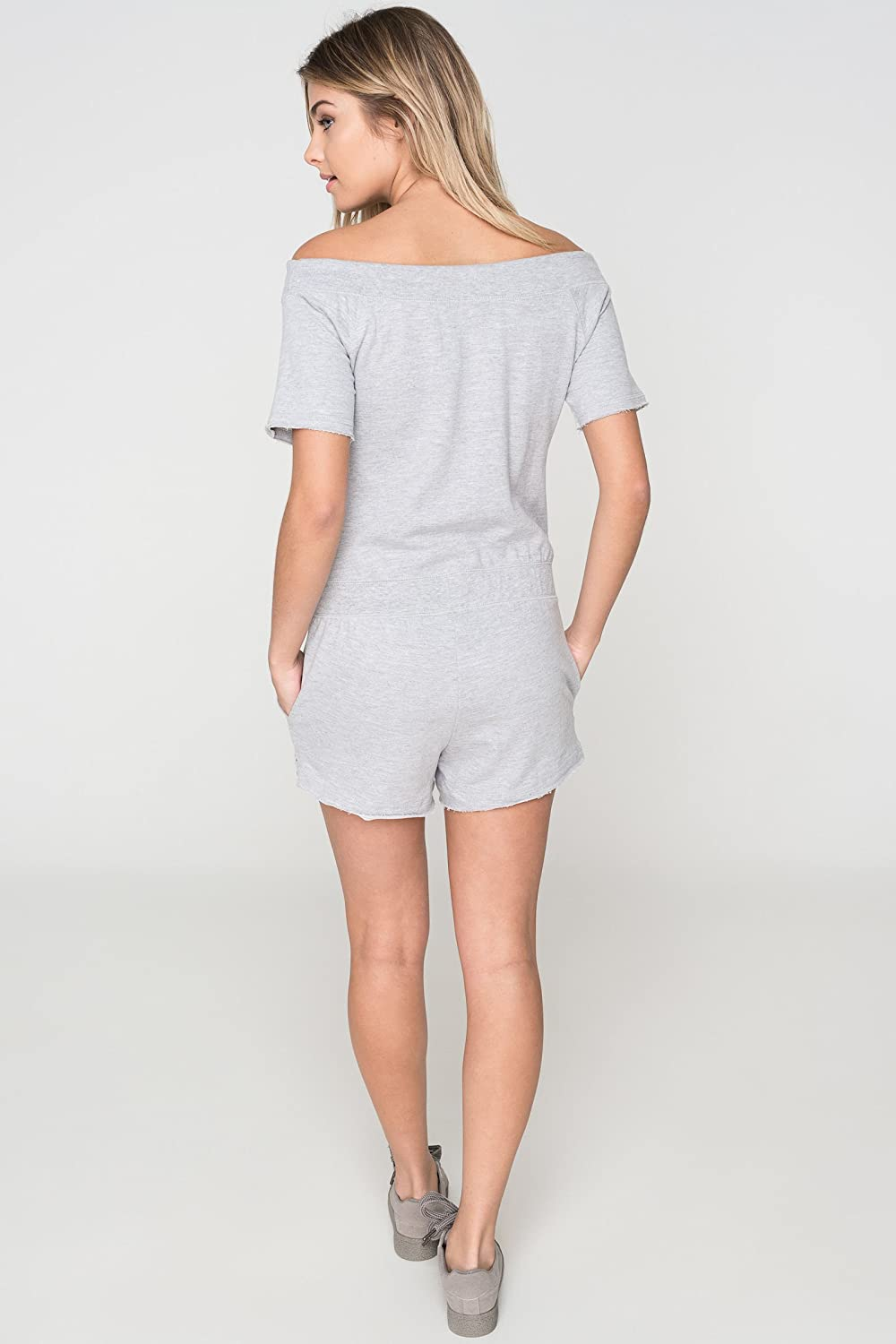 2ff44bb73b37 Ardene Women s - Rompers   Jumpsuits - Off Shoulder Sweats Romper Extra  Small -(8A-AP01003)  Amazon.co.uk  Clothing