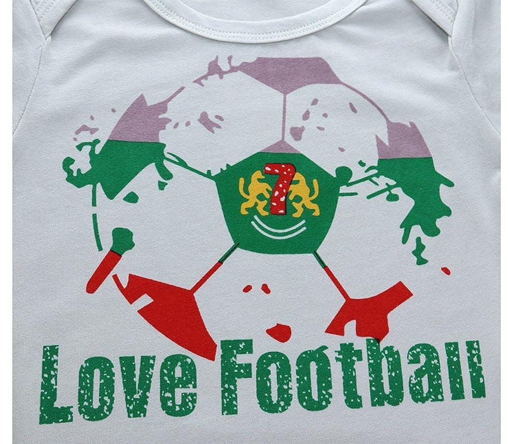 fa31e13098cb Hellomiko 2018 Sommer Neue Welt Cup Baby Onesies Baby Fußball Strampler  Klettern Kleidung  Amazon.de  Bekleidung